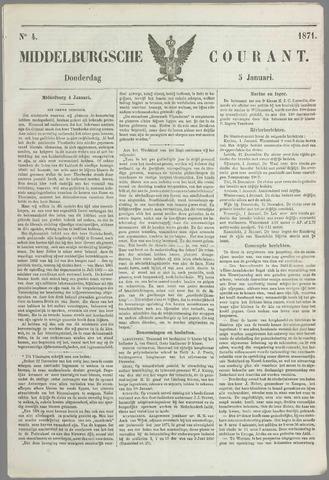 Middelburgsche Courant 1871-01-05