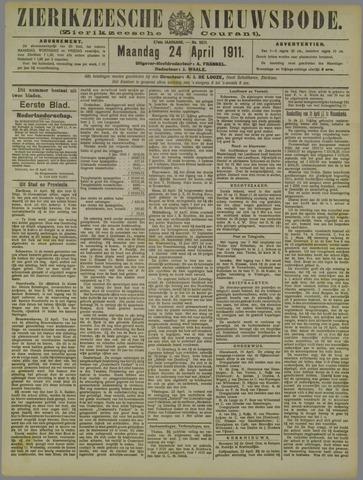 Zierikzeesche Nieuwsbode 1911-04-24