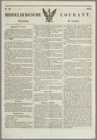 Middelburgsche Courant 1871-01-25
