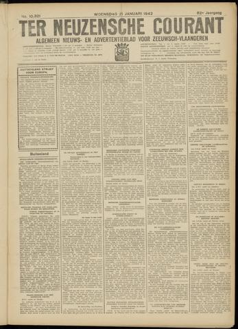 Ter Neuzensche Courant. Algemeen Nieuws- en Advertentieblad voor Zeeuwsch-Vlaanderen / Neuzensche Courant ... (idem) / (Algemeen) nieuws en advertentieblad voor Zeeuwsch-Vlaanderen 1942-01-21