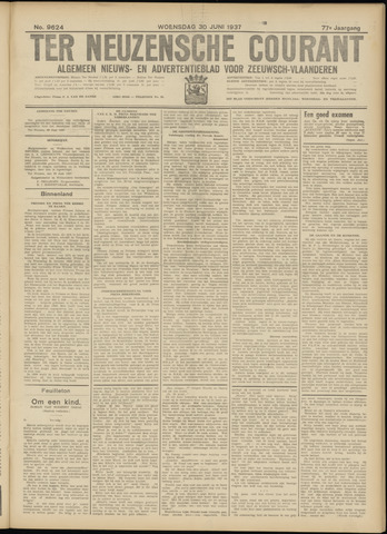 Ter Neuzensche Courant. Algemeen Nieuws- en Advertentieblad voor Zeeuwsch-Vlaanderen / Neuzensche Courant ... (idem) / (Algemeen) nieuws en advertentieblad voor Zeeuwsch-Vlaanderen 1937-06-30