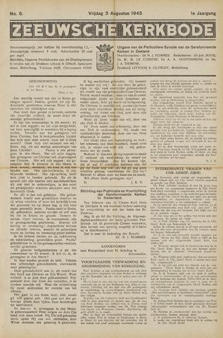 Zeeuwsche kerkbode, weekblad gewijd aan de belangen der gereformeerde kerken/ Zeeuwsch kerkblad 1945-08-03