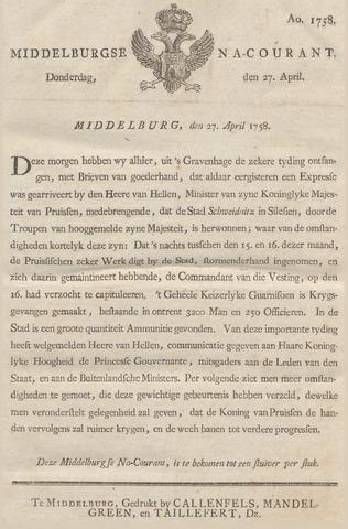 Middelburgsche Courant 1758-04-27