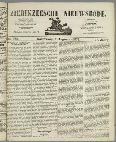Zierikzeesche Nieuwsbode 1851-08-07