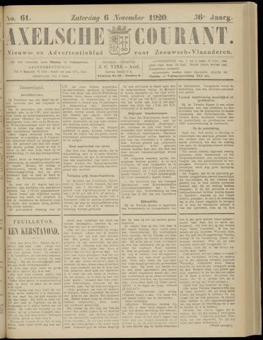 Axelsche Courant 1920-11-06