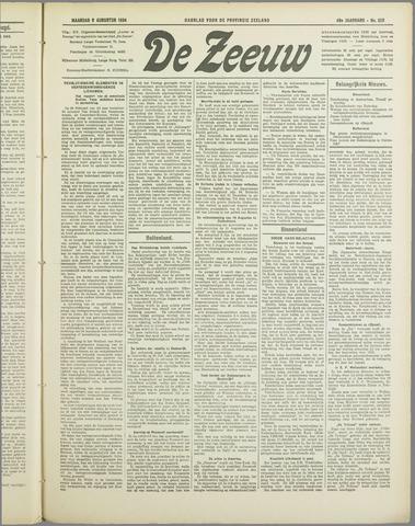 De Zeeuw. Christelijk-historisch nieuwsblad voor Zeeland 1934-08-06