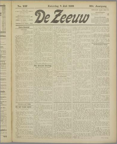 De Zeeuw. Christelijk-historisch nieuwsblad voor Zeeland 1916-07-08