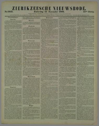 Zierikzeesche Nieuwsbode 1888-11-24