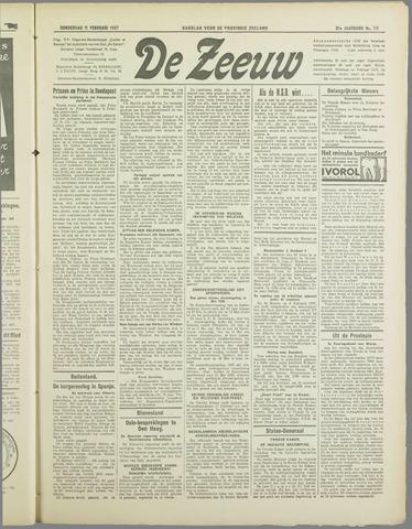 De Zeeuw. Christelijk-historisch nieuwsblad voor Zeeland 1937-02-11