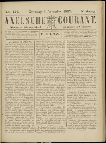 Axelsche Courant 1887-11-05