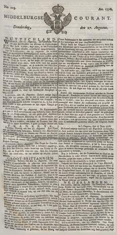 Middelburgsche Courant 1778-08-27