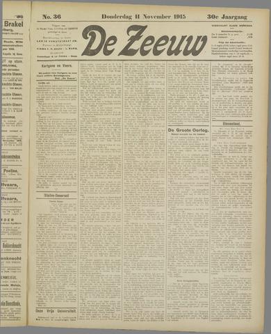 De Zeeuw. Christelijk-historisch nieuwsblad voor Zeeland 1915-11-11