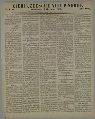 Zierikzeesche Nieuwsbode 1885-12-17