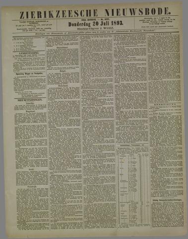 Zierikzeesche Nieuwsbode 1893-07-20