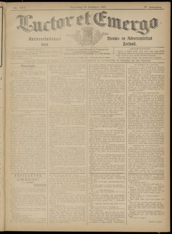 Luctor et Emergo. Antirevolutionair nieuws- en advertentieblad voor Zeeland / Zeeuwsch-Vlaanderen. Orgaan ter verspreiding van de christelijke beginselen in Zeeuwsch-Vlaanderen 1917-10-13
