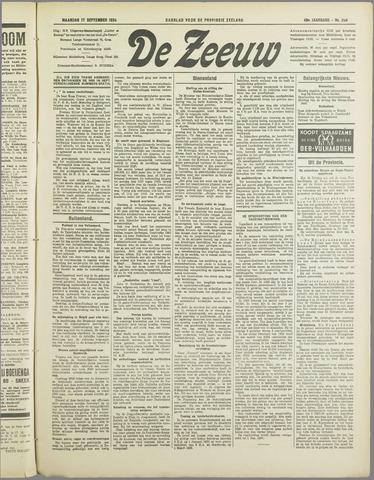 De Zeeuw. Christelijk-historisch nieuwsblad voor Zeeland 1934-09-17