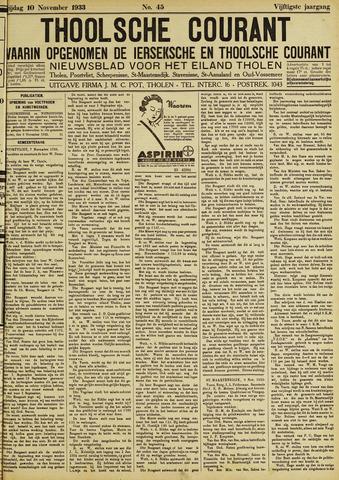 Ierseksche en Thoolsche Courant 1933-11-10