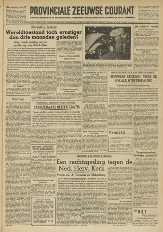 Provinciale Zeeuwse Courant 1951-03-28