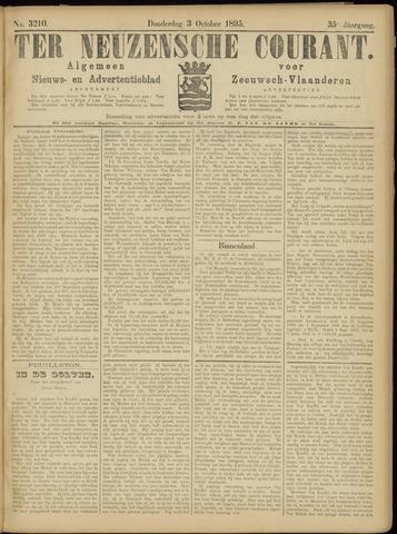 Ter Neuzensche Courant. Algemeen Nieuws- en Advertentieblad voor Zeeuwsch-Vlaanderen / Neuzensche Courant ... (idem) / (Algemeen) nieuws en advertentieblad voor Zeeuwsch-Vlaanderen 1895-10-03