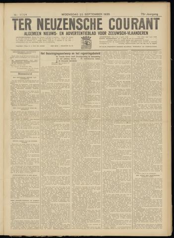 Ter Neuzensche Courant. Algemeen Nieuws- en Advertentieblad voor Zeeuwsch-Vlaanderen / Neuzensche Courant ... (idem) / (Algemeen) nieuws en advertentieblad voor Zeeuwsch-Vlaanderen 1935-09-25