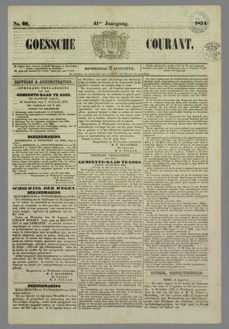 Goessche Courant 1854-08-03