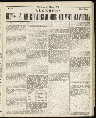 Ter Neuzensche Courant. Algemeen Nieuws- en Advertentieblad voor Zeeuwsch-Vlaanderen / Neuzensche Courant ... (idem) / (Algemeen) nieuws en advertentieblad voor Zeeuwsch-Vlaanderen 1875-03-17
