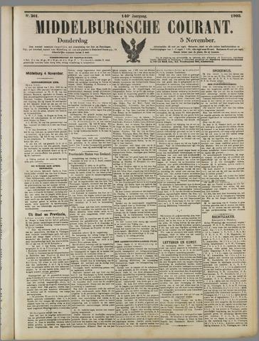Middelburgsche Courant 1903-11-05