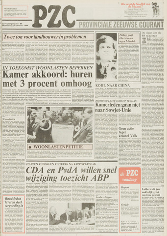 Provinciale Zeeuwse Courant 1984-02-29