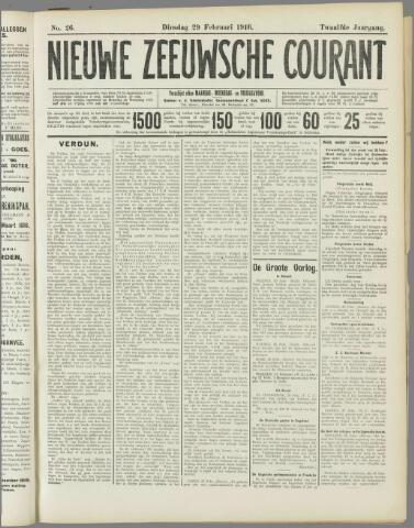 Nieuwe Zeeuwsche Courant 1916-02-29