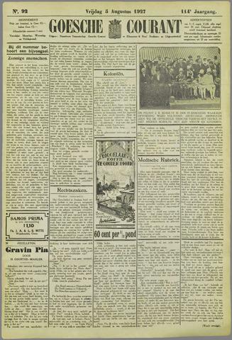 Goessche Courant 1927-08-05