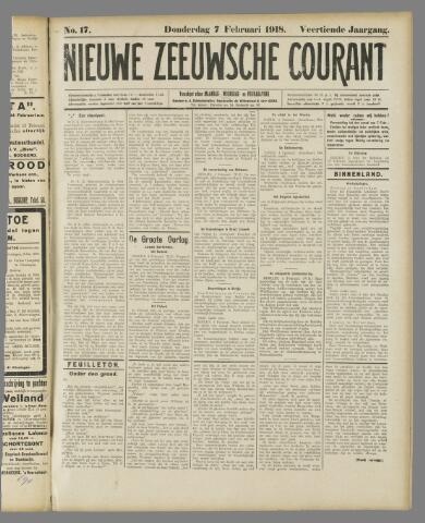 Nieuwe Zeeuwsche Courant 1918-02-07