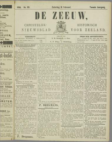 De Zeeuw. Christelijk-historisch nieuwsblad voor Zeeland 1888-02-18