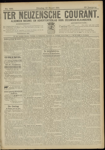Ter Neuzensche Courant. Algemeen Nieuws- en Advertentieblad voor Zeeuwsch-Vlaanderen / Neuzensche Courant ... (idem) / (Algemeen) nieuws en advertentieblad voor Zeeuwsch-Vlaanderen 1915-03-23