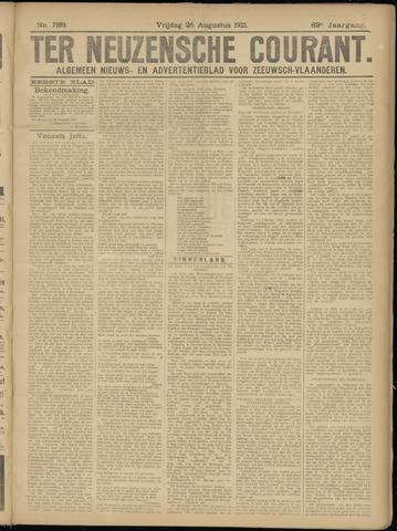 Ter Neuzensche Courant. Algemeen Nieuws- en Advertentieblad voor Zeeuwsch-Vlaanderen / Neuzensche Courant ... (idem) / (Algemeen) nieuws en advertentieblad voor Zeeuwsch-Vlaanderen 1921-08-26