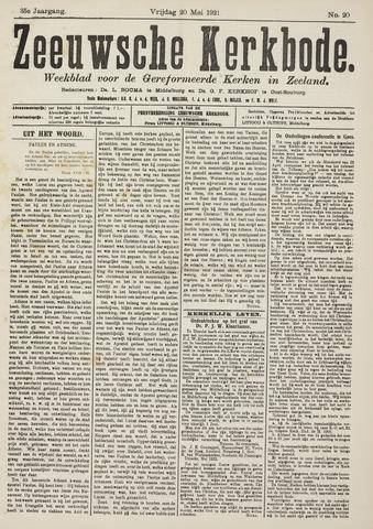 Zeeuwsche kerkbode, weekblad gewijd aan de belangen der gereformeerde kerken/ Zeeuwsch kerkblad 1921-05-20