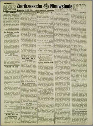 Zierikzeesche Nieuwsbode 1924-07-23