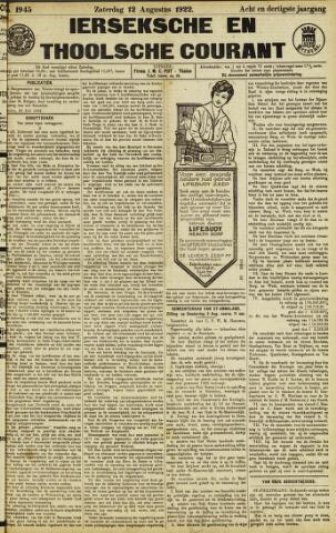 Ierseksche en Thoolsche Courant 1922-08-12