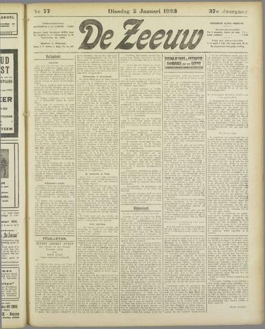 De Zeeuw. Christelijk-historisch nieuwsblad voor Zeeland 1923