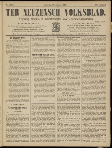 Ter Neuzensch Volksblad. Vrijzinnig nieuws- en advertentieblad voor Zeeuwsch- Vlaanderen / Zeeuwsch Nieuwsblad. Nieuws- en advertentieblad voor Zeeland 1912-01-20