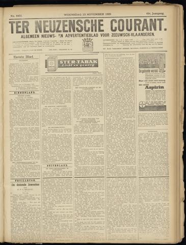Ter Neuzensche Courant. Algemeen Nieuws- en Advertentieblad voor Zeeuwsch-Vlaanderen / Neuzensche Courant ... (idem) / (Algemeen) nieuws en advertentieblad voor Zeeuwsch-Vlaanderen 1929-11-13