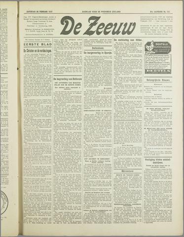 De Zeeuw. Christelijk-historisch nieuwsblad voor Zeeland 1937-02-20