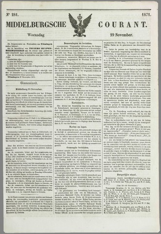 Middelburgsche Courant 1871-11-29