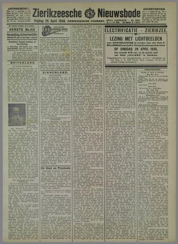 Zierikzeesche Nieuwsbode 1930-04-25