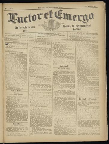 Luctor et Emergo. Antirevolutionair nieuws- en advertentieblad voor Zeeland / Zeeuwsch-Vlaanderen. Orgaan ter verspreiding van de christelijke beginselen in Zeeuwsch-Vlaanderen 1916-11-25
