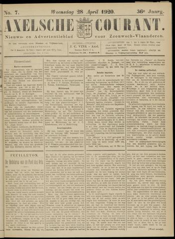 Axelsche Courant 1920-04-28
