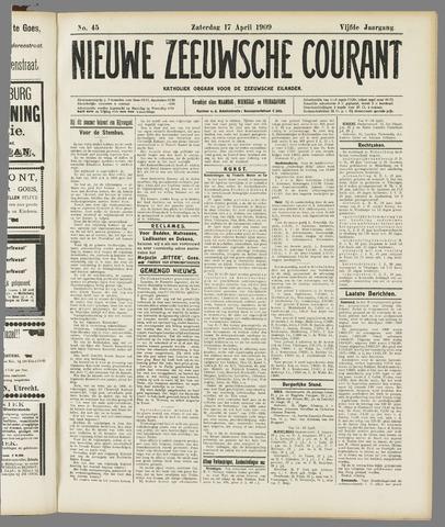 Nieuwe Zeeuwsche Courant 1909-04-17