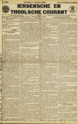 Ierseksche en Thoolsche Courant 1920-08-07