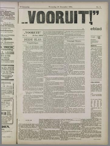 """""""Vooruit!""""Officieel Nieuws- en Advertentieblad voor Overflakkee en Goedereede 1904-12-28"""