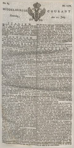 Middelburgsche Courant 1778-07-11