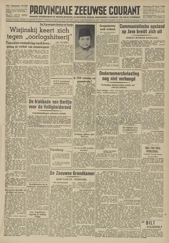Provinciale Zeeuwse Courant 1948-09-27